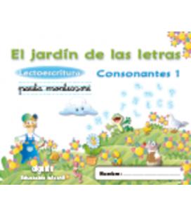 El jardín de las letras. Lectoescritura. Consonantes 1. Algaida +