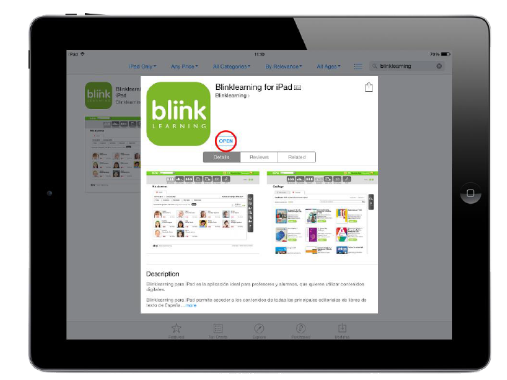 BlinkLearning for iPad